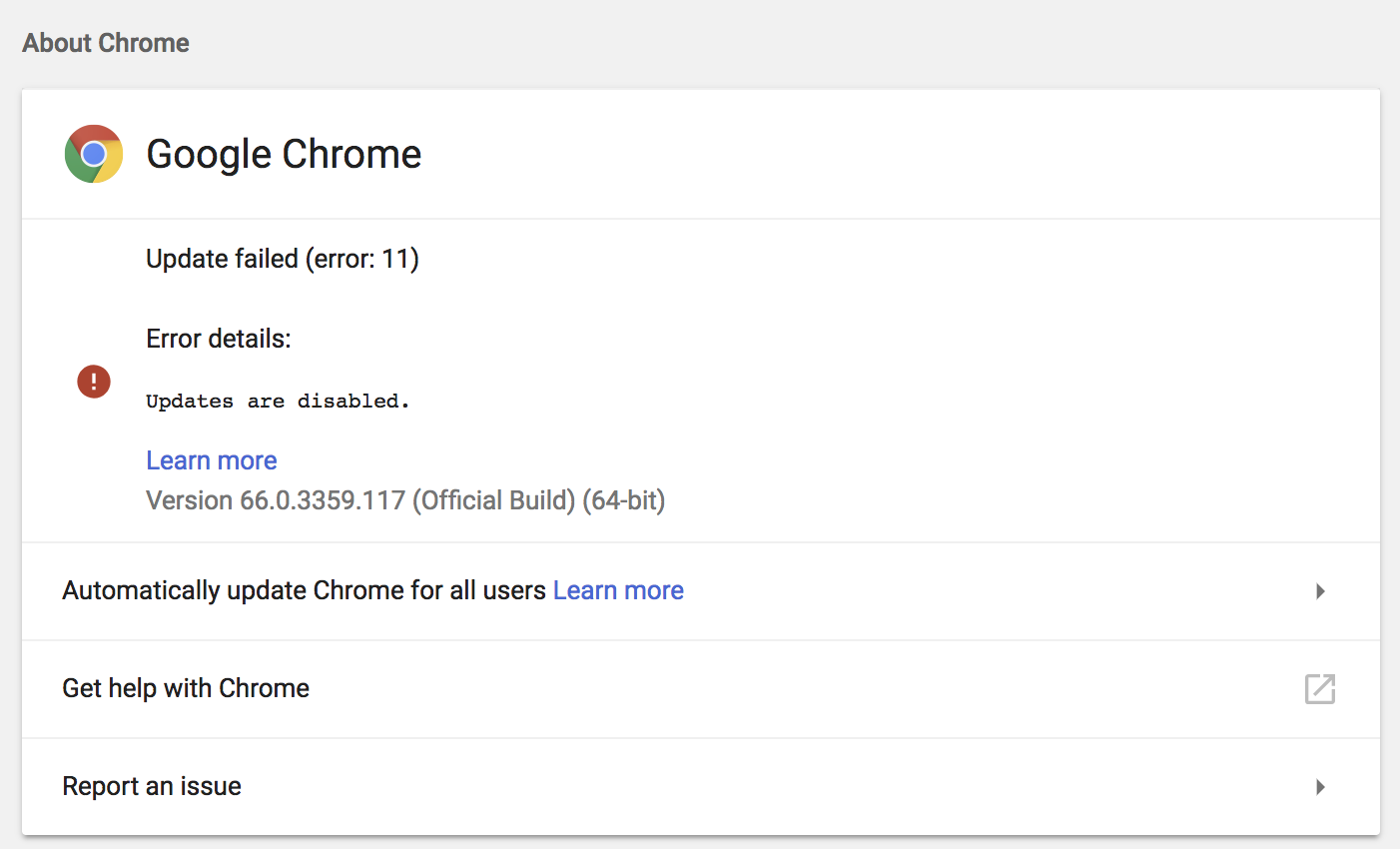 Disable Chrome Updates | Discussion | Jamf Nation