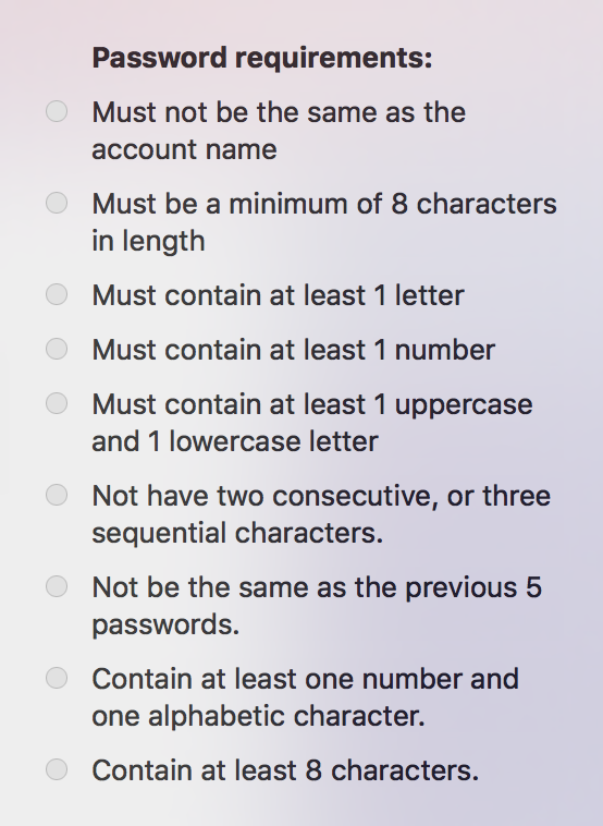 Password Requirements policy | Discussion | Jamf Nation