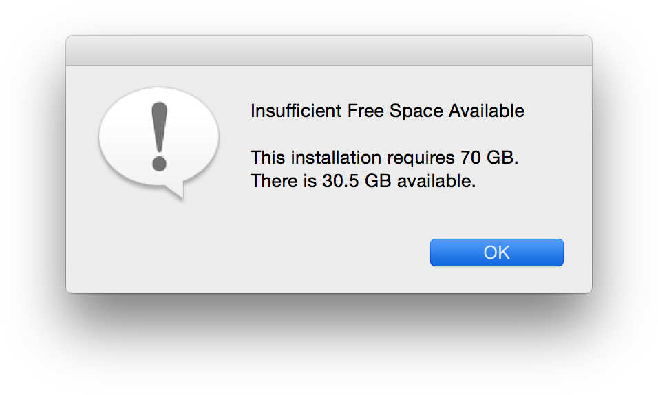 Validate available disk space before installing package | Discussion