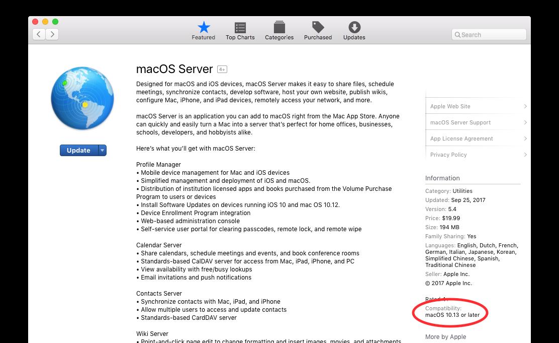 High Sierra updates on El Capitan Server app SWUS? | Discussion