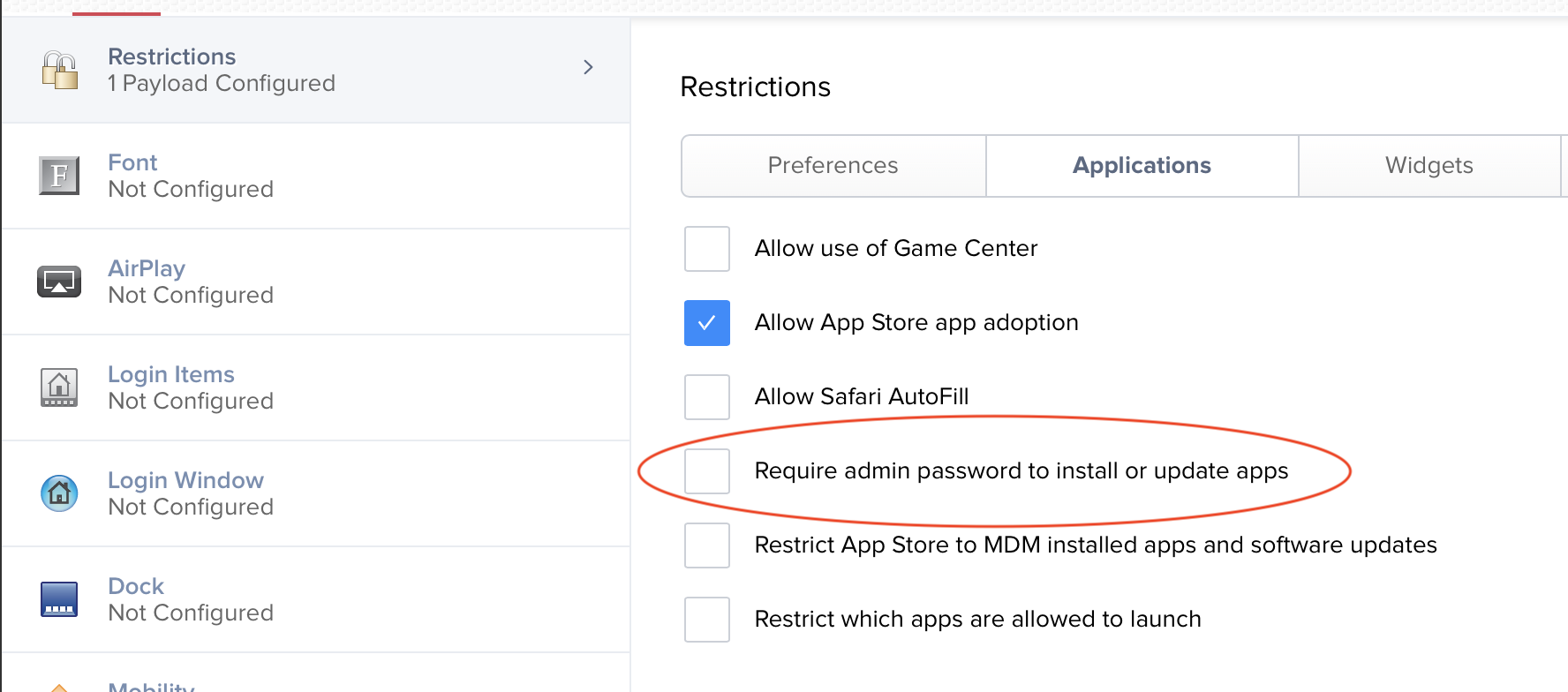 Install AppStore Apps (Mac OS) without interaction from user