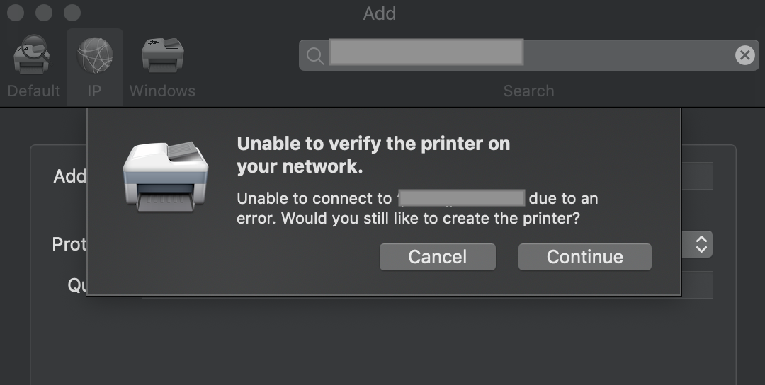 Mac can't connect with Printer Queue  Any pointers? | Discussion