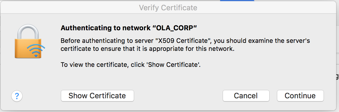 verify certificate mac os x