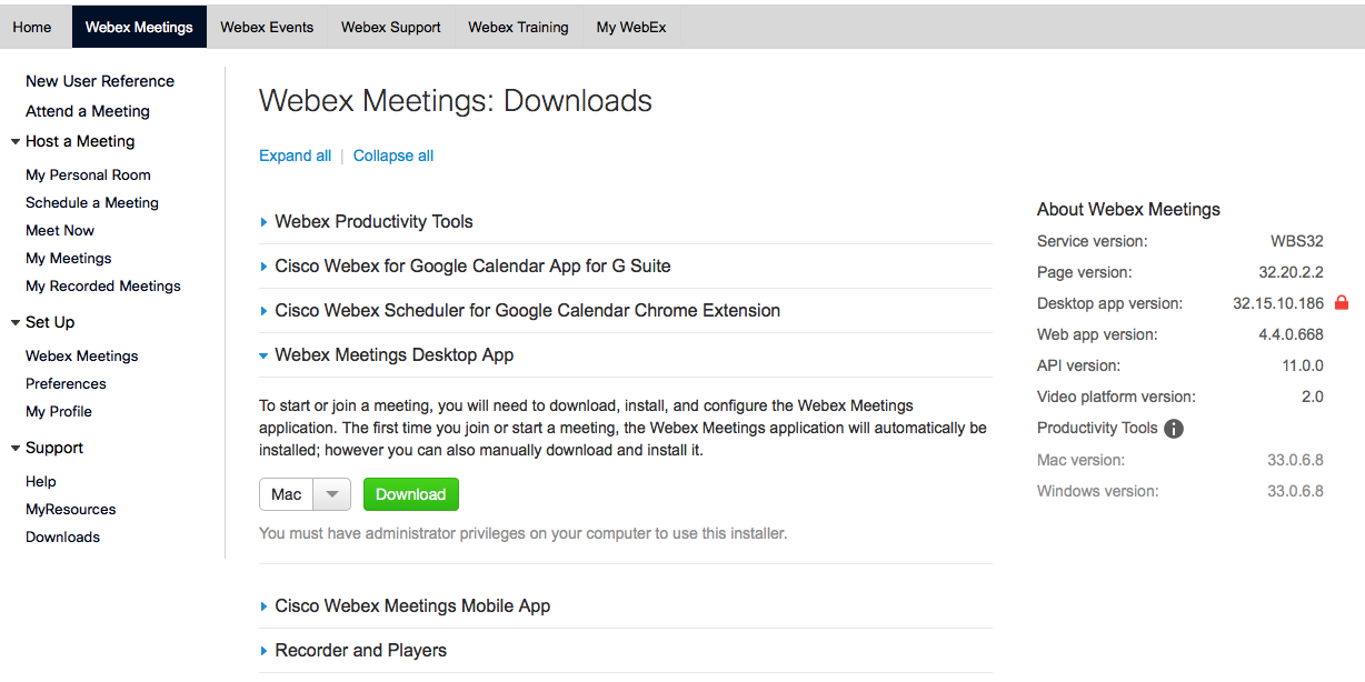 WebEx Meeting Center - Working Version? | Discussion | Jamf Nation