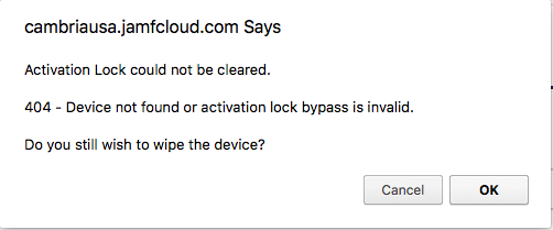 Activation Lock Bypass Codes Not Working | Discussion | Jamf