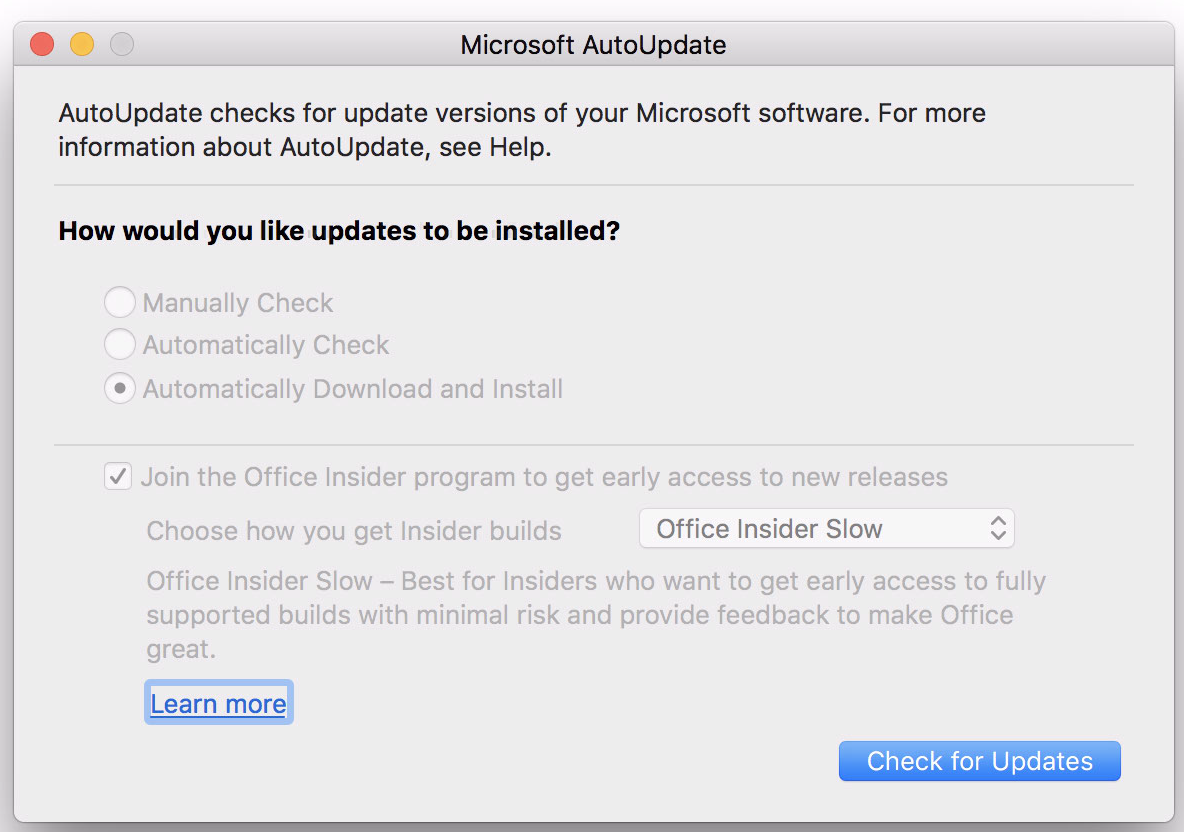 Cannot Disable Office Insider Option Discussion Jamf Nation