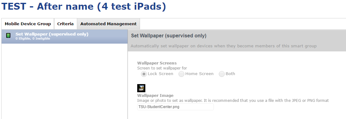 Separate Home Screen And Lock Screen Wallpapers Discussion Jamf