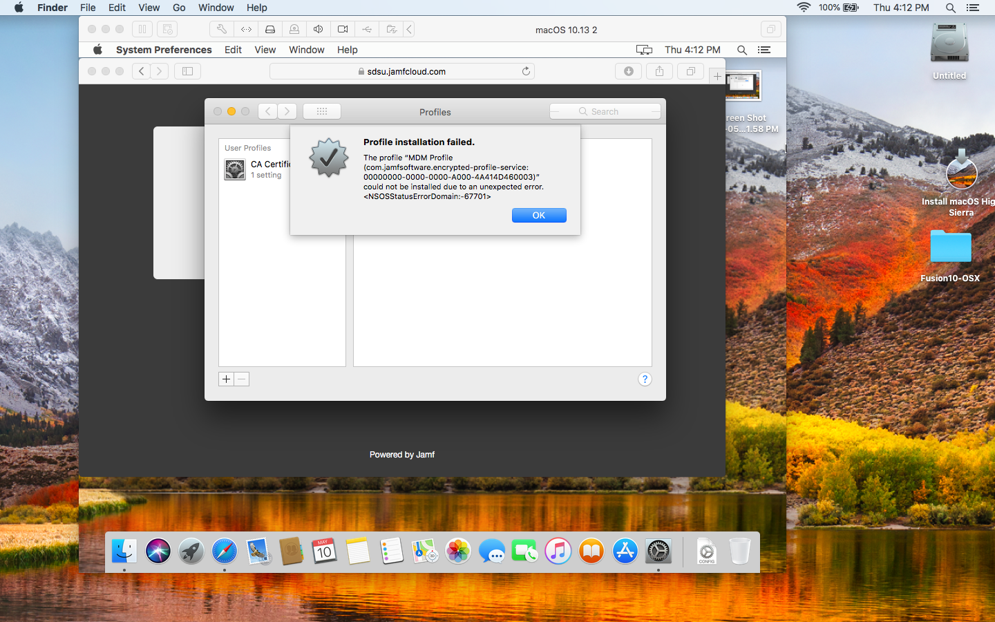 VMWare Fusion - VM can't install MDM profile | Discussion | Jamf Nation