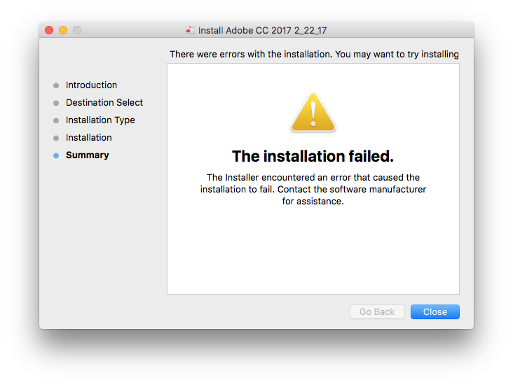 Adobe CC Package Installation suddenly fails? | Discussion