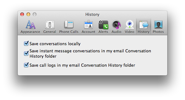 MS Lync Disable local saves of conversations   Discussion