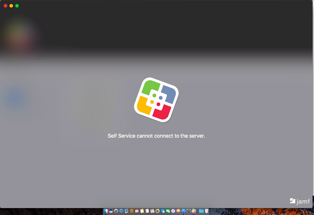 Self Service cannot connect to the server  Since v10 0 0