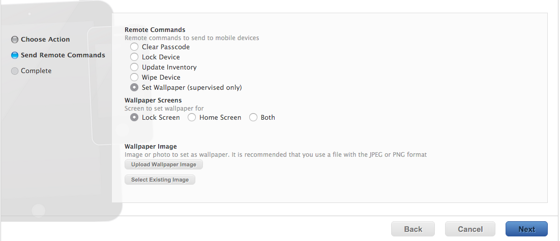Ios Wallpaper Background Policy With Configuration Policy