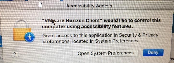 VMWare Unable to access Accessibility Settings | Discussion