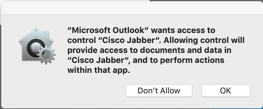 Outlook > Cisco Jabber Privacy Preferences | Discussion