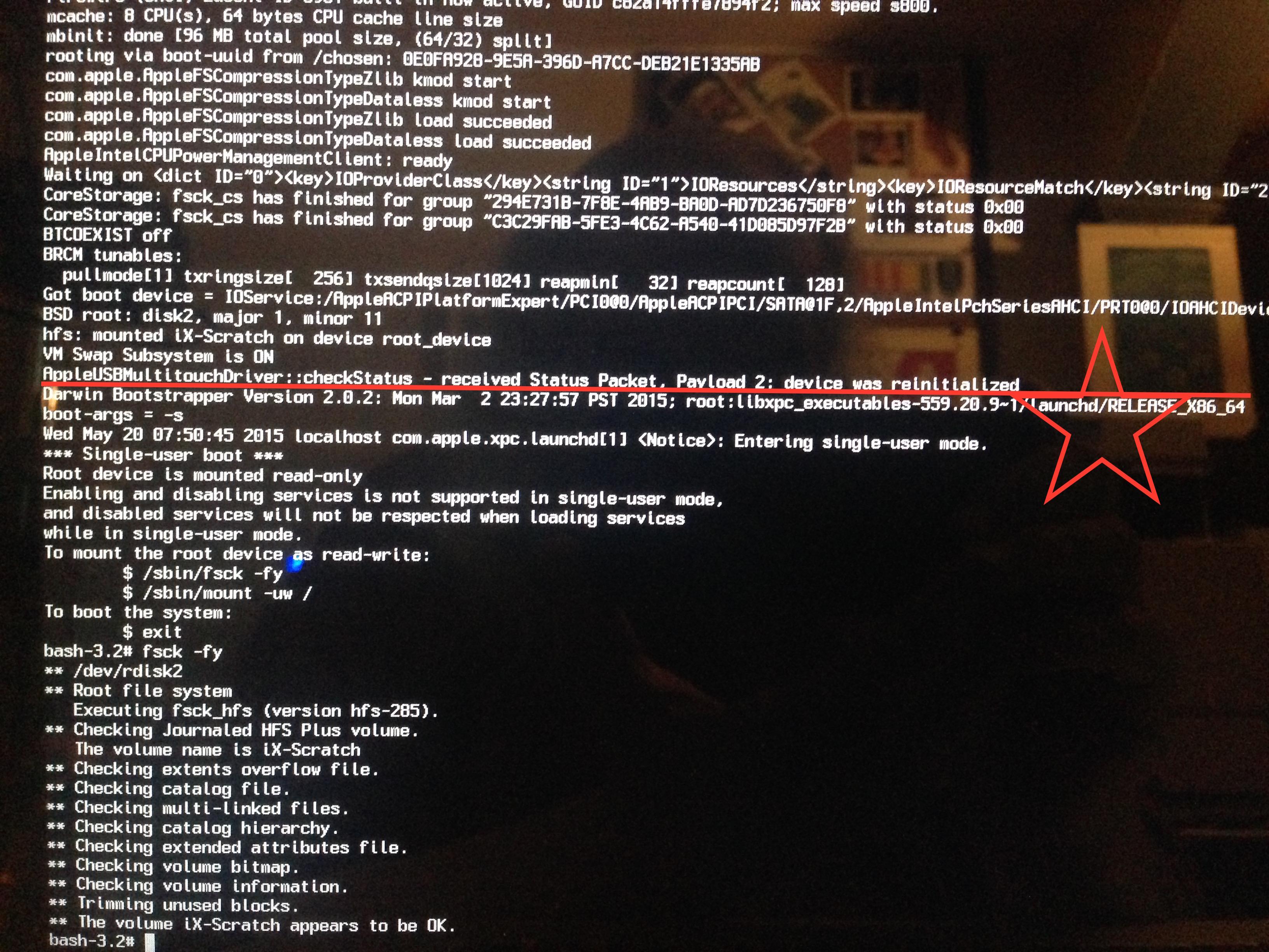 Yosemite Macbooks stuck at 50% boot (Progress Bar