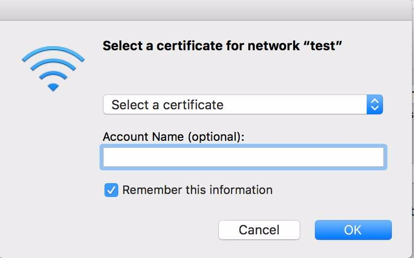 EAP-TLS Certificate based WiFi authentication | Discussion