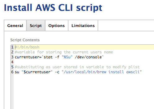 Install AWS CLI through Jamf | Discussion | Jamf Nation