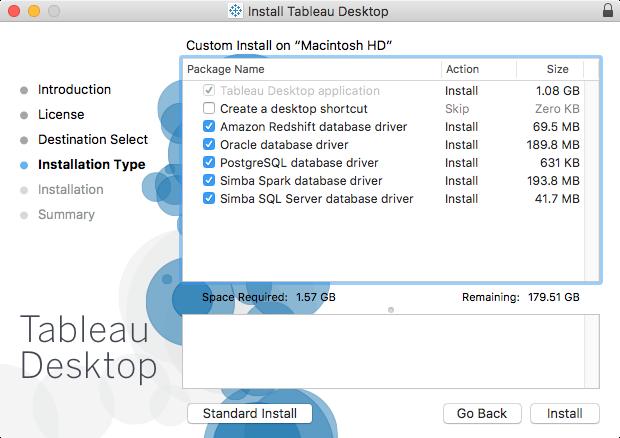 Tableau Desktop (candidate for worst vendor package in 2017