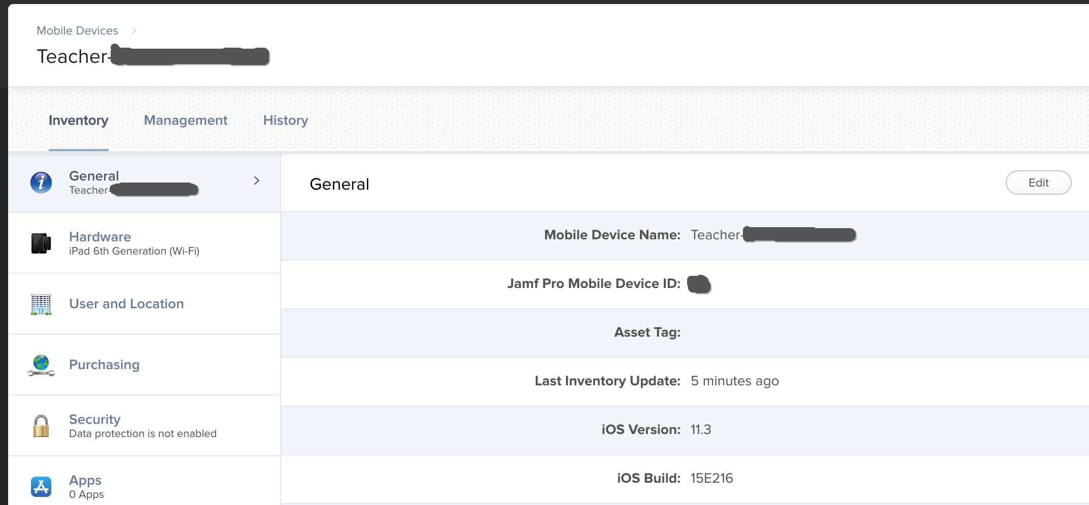 Device Name in configuration profile logs | Discussion