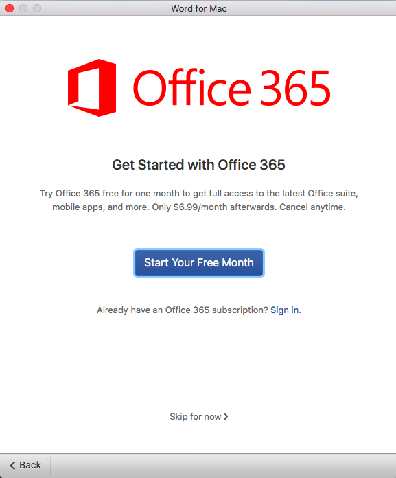 Office 2016 for Mac skip the need to login | Discussion