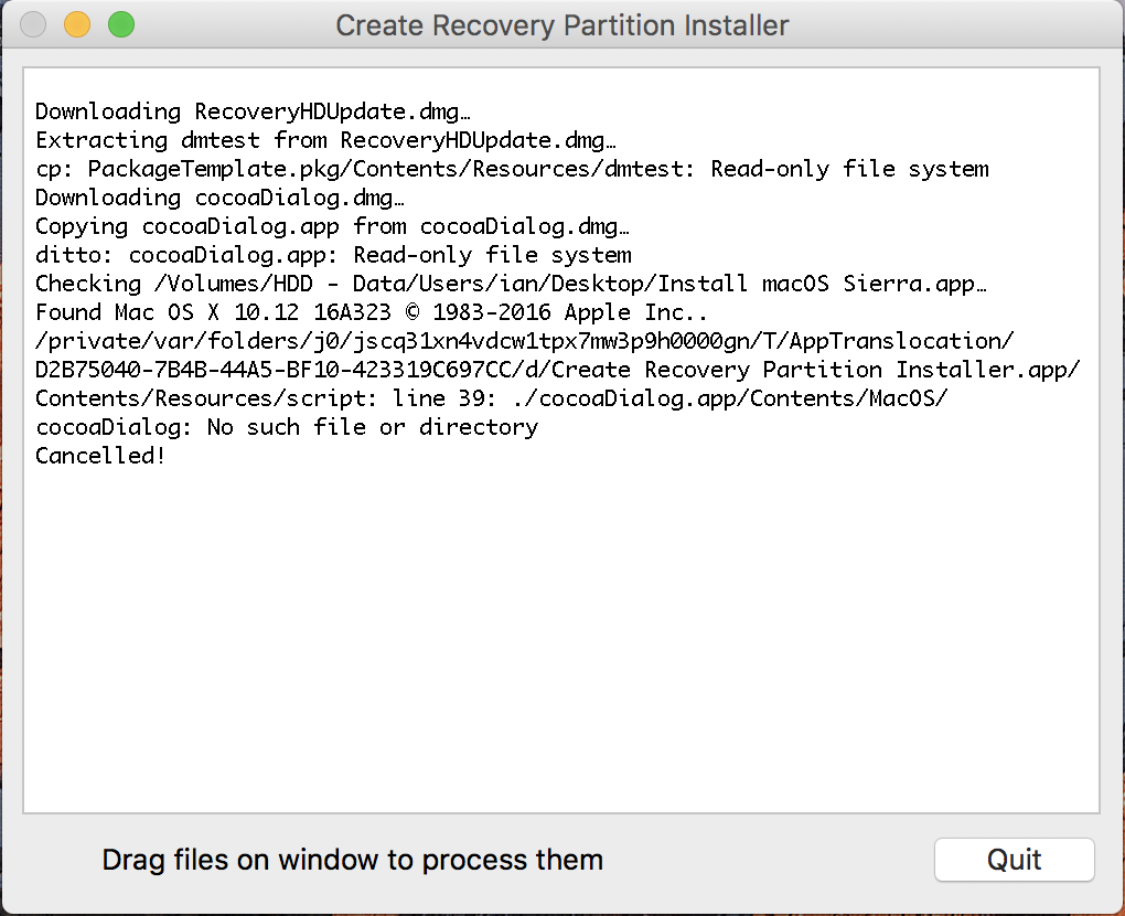 creating blank image with recovery partition on Sierra | Discussion