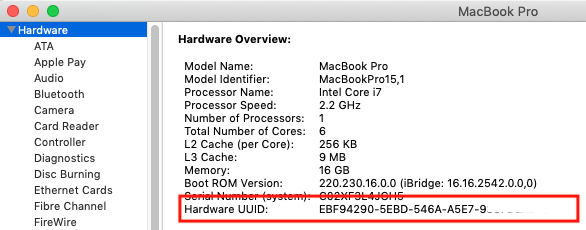 Use serial numbers to identify Macs instead of UDID, to handle
