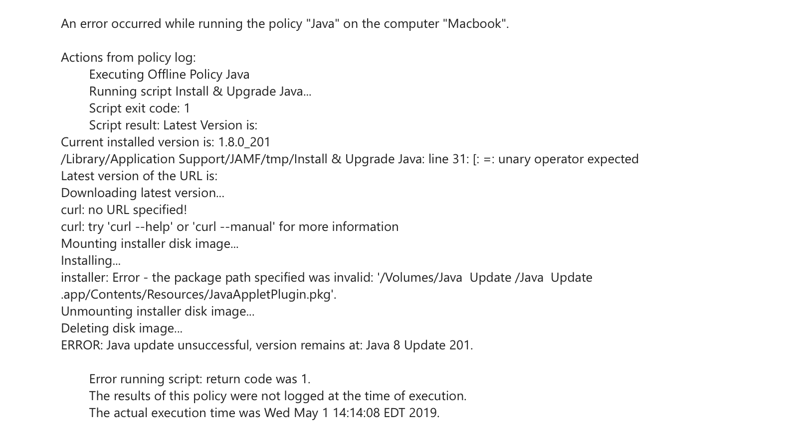 Script to Install / Update Java | Discussion | Jamf Nation