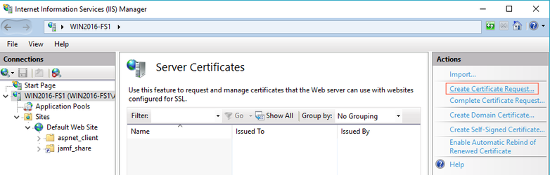 Using IIS to Enable HTTPS Downloads on a Windows Server 2012