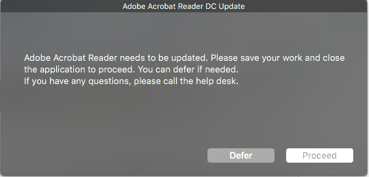 Adobe Reader Update | Discussion | Jamf Nation