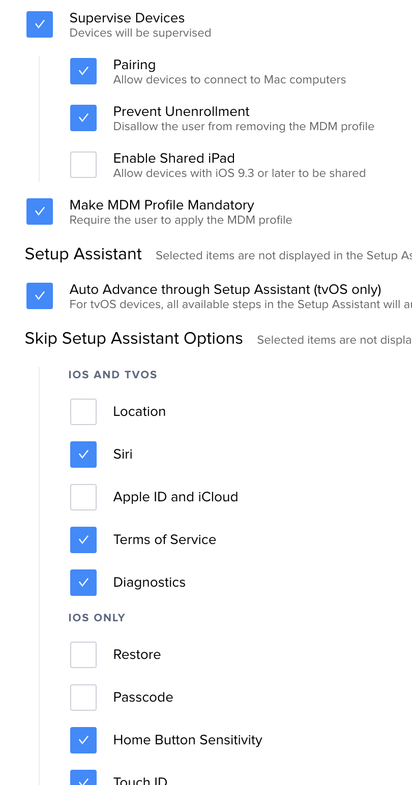 Restore From iCloud on Supervised Device | Discussion | Jamf