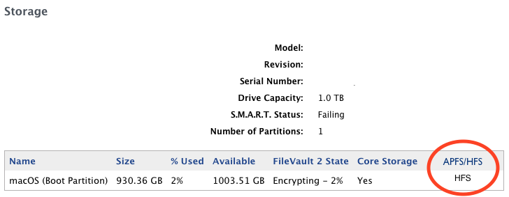 show if a disk is APFS or HFS   Jamf Nation