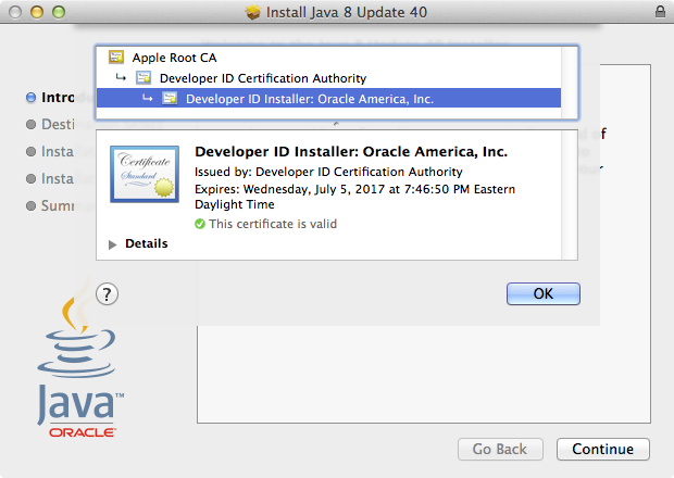 Oracle's Java 8 Update 40 now available as a signed installer